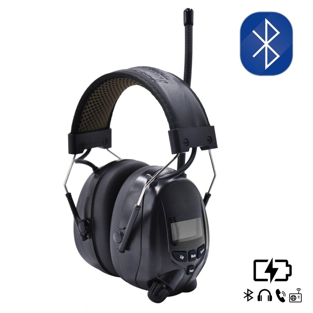 Batterie au Lithium Bluetooth prise de vue électronique cache-oreilles Protection auditive FM/AM Radio oreille défenseurs protecteur tactique