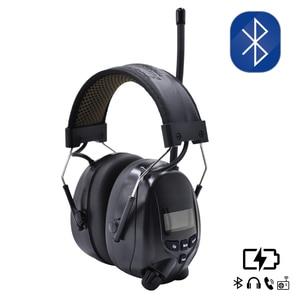 Image 1 - Lithium batterie Bluetooth Elektronische Schießen gehörschutz Gehörschutz FM/AM Radio Ohr Verteidiger Taktische Schutz