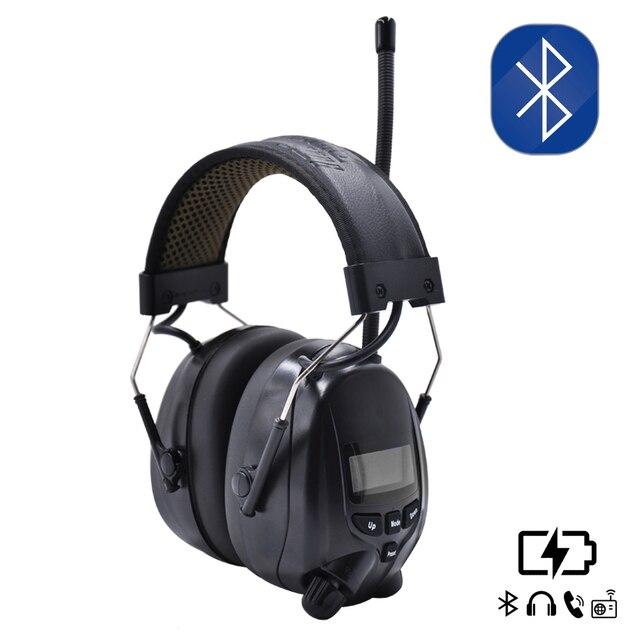 Lithium batterie Bluetooth Elektronische Schießen gehörschutz Gehörschutz FM/AM Radio Ohr Verteidiger Taktische Schutz