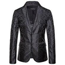 2019 autumn new flower embroidery cotton men blazer jacket eu size 2xl designs