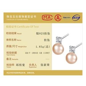 Image 5 - DOTEFFIL 925 Sterling Silve naturalna perła słodkowodna AAA Crystal stadniny kolczyki dla kobiet moda ślubna urok biżuterii