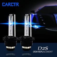 CARCTR 2 PCS 자동차 헤드 라이트 전구 크세논 헤드 램프 HID 55W D2S 3000K 4300K 5000K 6000K 8000K 10000K 12000K 15000K 자동차 헤드 라이트