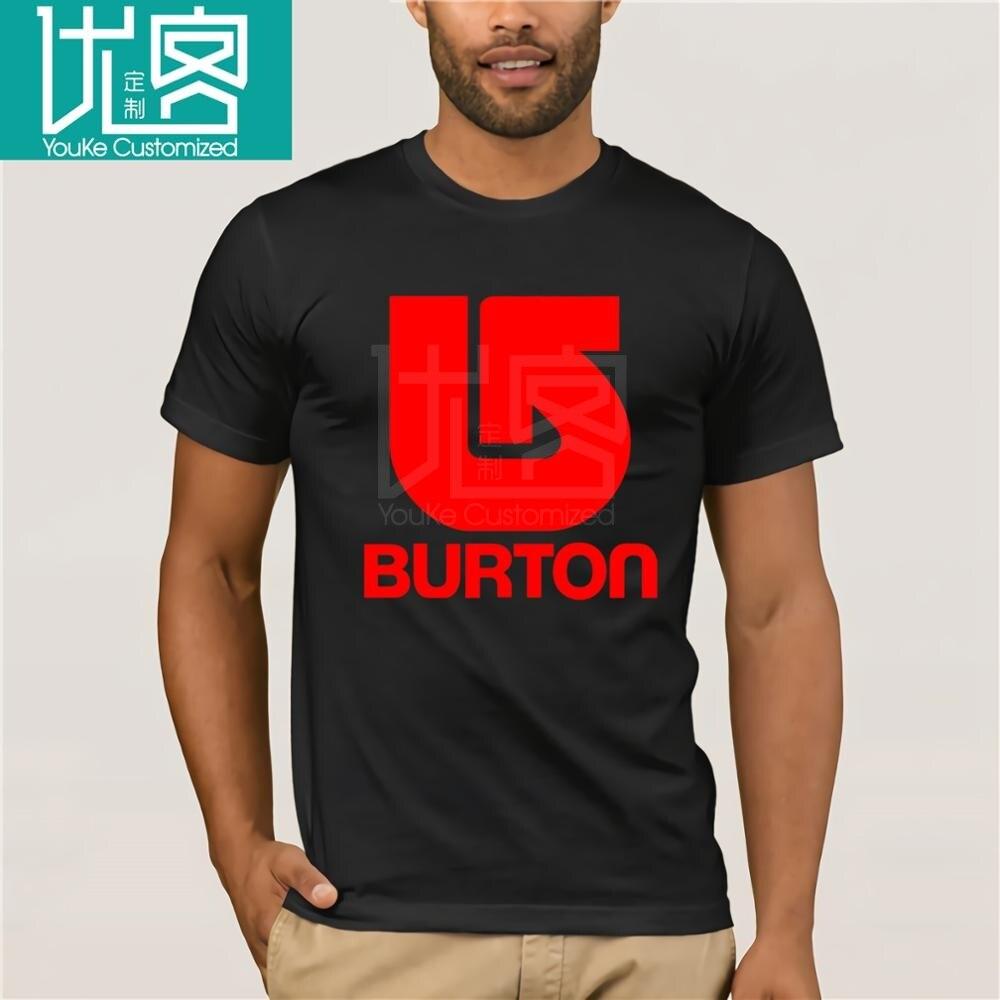 Burton Snowboards - Custom T-shirt Tee Hipster Tees Summer Mens T Shirt New Short Sleeve Round Collar White Style