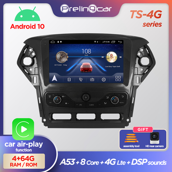 Prelingcar Android 10.0 NO DVD 2 Din Car Radio Multimedia Video Player Navigation GPS For Ford Mondeo 2010-2014 Octa-Core 4G image