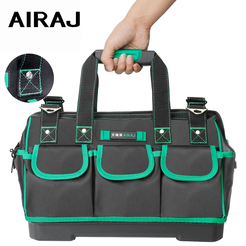 AIRAJ 2019 Tool Bag,Simple/Classic/Upgrade/Flagship Thick Waterproof Large Capacity Multi-function Electrician Bags