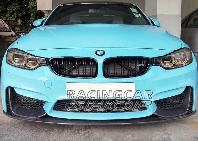 P Style Real Carbon Fiber Front Lip Spoiler for BMW F80 M3 F82 F83 M4 Bumper 2014UP B171 image