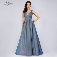 Maxi Dresses Long A-Line V-Neck Solid Color Sleeveless Floor-Length Summer Women 2019 Cheap Sexy Ladies Party