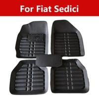 Durable Wear Resisting Leather Car Floor Mats Special Pads For Fiat Sedici Premium Full Set Carpet Floor Mat|Floor Mats| |  -