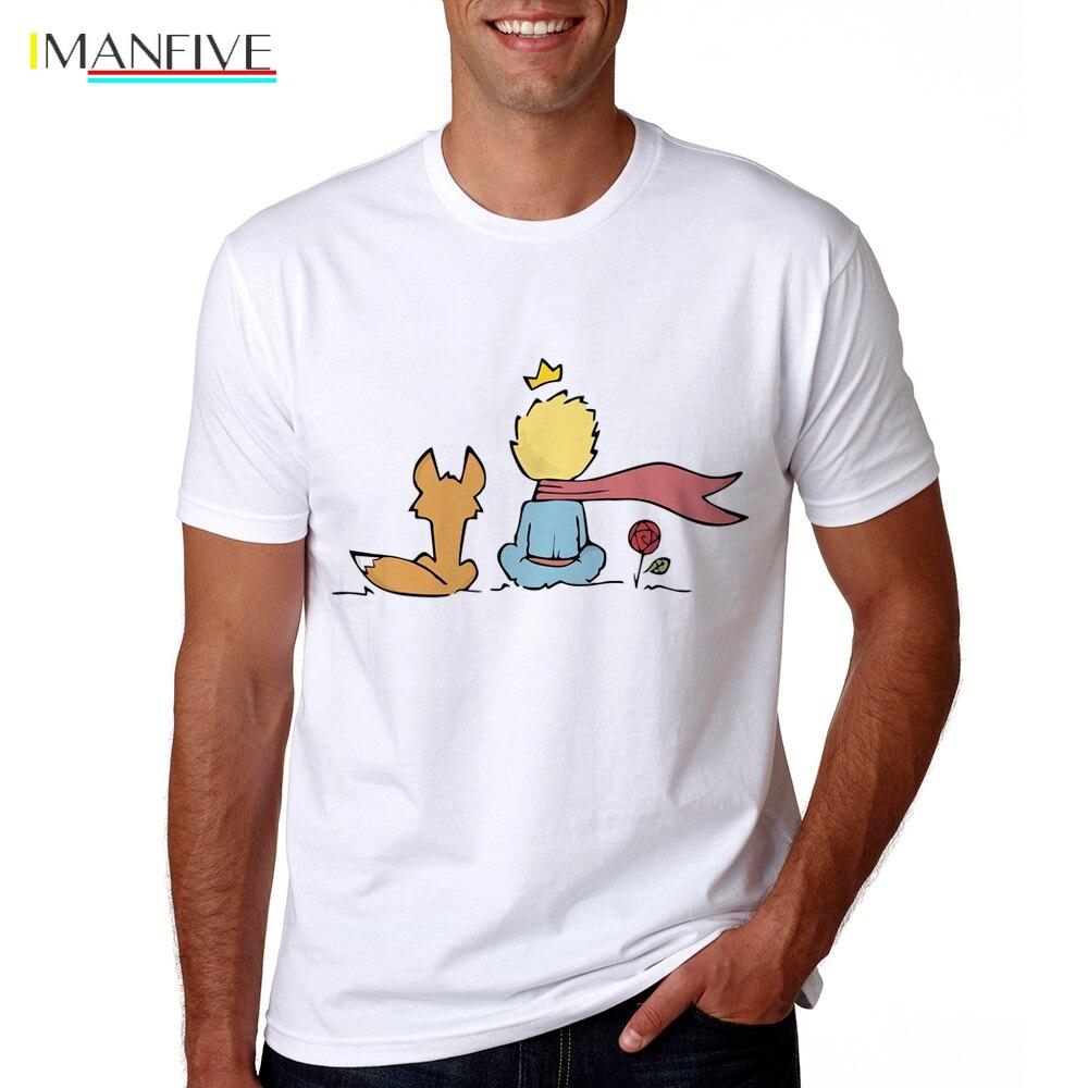 2019 Men The Little Prince Shirt Summer Funny T-shirt Short Sleeve O-neck The Little Prince Tshirt Male Cool Cartoon Tops Tees