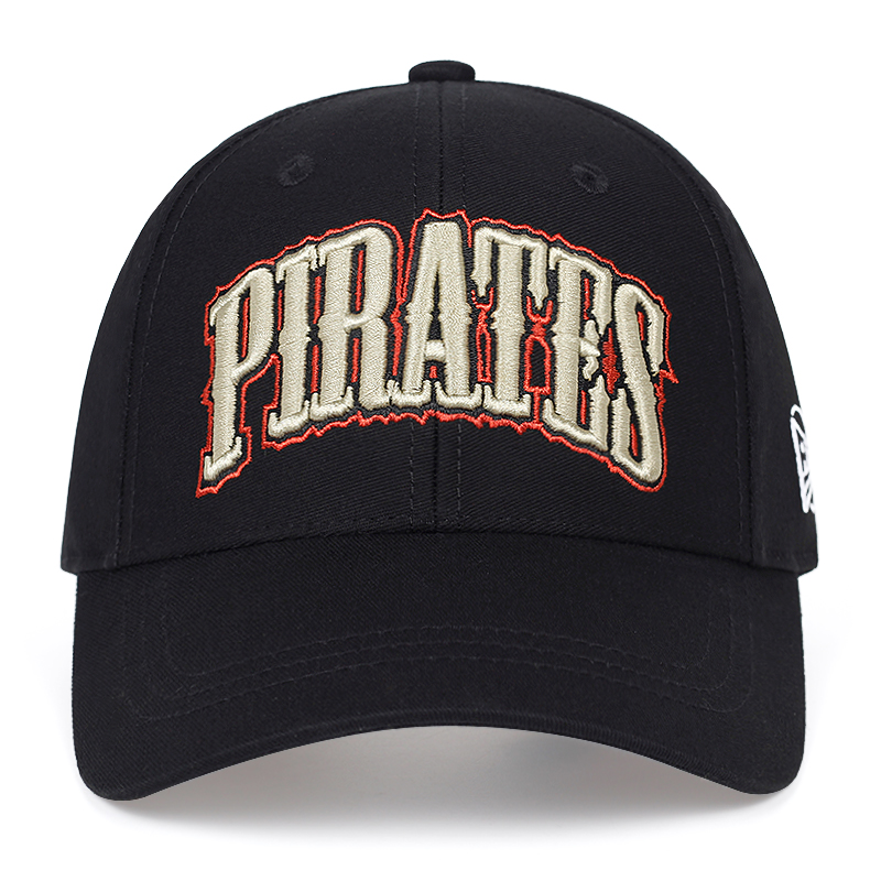 New PIRATES Letter Embroidery Baseball Cap Fashion Hip Hop Caps Outdoor Adjustable Visor Hat Men's And Women's Universal Hats