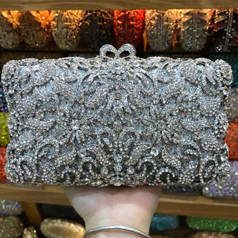 XIYUAN, белый кристалл, Золотой металлический клатч, женские вечерние вечерняя сумочка и сумки, модная женская вечерняя сумка на плечо со стразами
