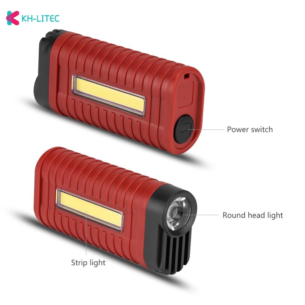 H99c0ad4ed7f8467b87bdaeab1976d0e5M - Mini 2 Modes led work light Portable Light by 3*AAA Battery COB LED Flashlight Torch for Camping Hunting Outdoor