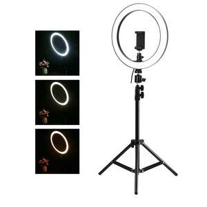 Light-Lamp Photo-Lighting Makeup Selfie-Ring 160cm-Tripod Dimmable Video-Live Stepless