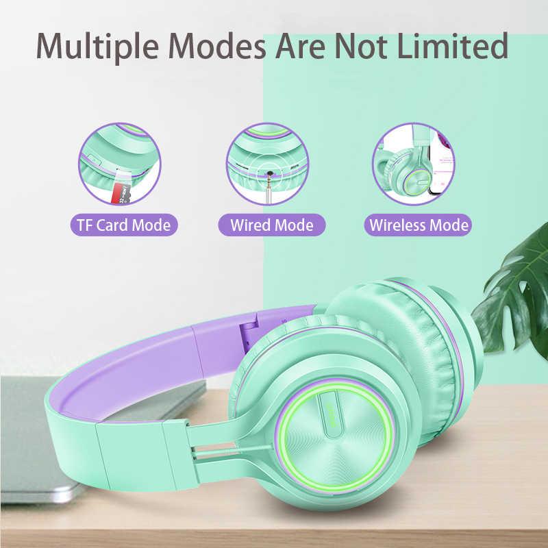 Rose Gold หูฟังไร้สายพร้อมไมโครโฟนชุดหูฟังสเตอริโอเบสหูฟังขนาดใหญ่สำหรับ PC แล็ปท็อปโทรศัพท์ Android, สำหรับของขวัญ
