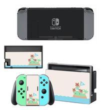 ויניל מסך עור בעלי החיים מעבר מגן מדבקות עבור Nintendo מתג NS קונסולת + בקר + Stand מחזיק עורות
