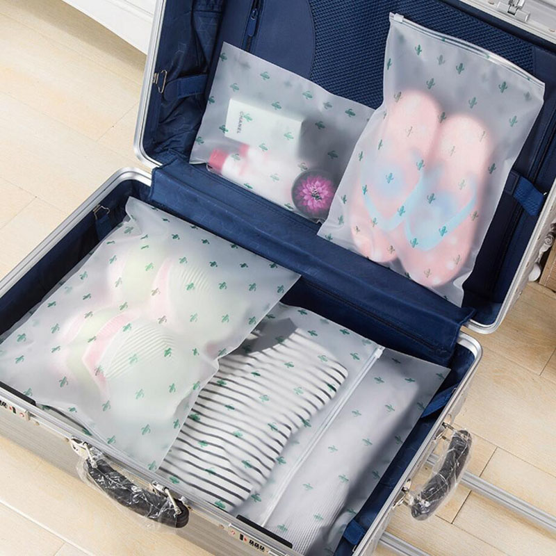 Plant Transparent Cosmetic Bag Travel Makeup Case Easily Clean Make Up Organizer Storage Pouch Toiletry Wash Kit Beauty Bath Box