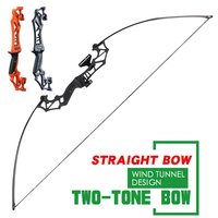 30-40 lb outdoor straight pull bow and arrow with 12 mixed carbon arrows for outdoor sports shooting and hunting accessories
