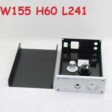 หูฟัง Enclosure DIY HIfi Home Audio ชุด W155 H60 L241อลูมิเนียมกรณีหูฟังเครื่องขยายเสียงแชสซี1506สำหรับ LM1875 LM3886