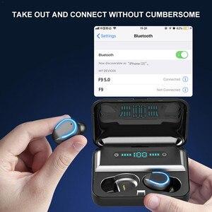 Image 3 - F9 5 auriculares inalámbricos IPX7 para videojuegos, dispositivo resistente al agua, estéreo, Bluetooth, para todos los Android iOS y teléfonos inteligentes