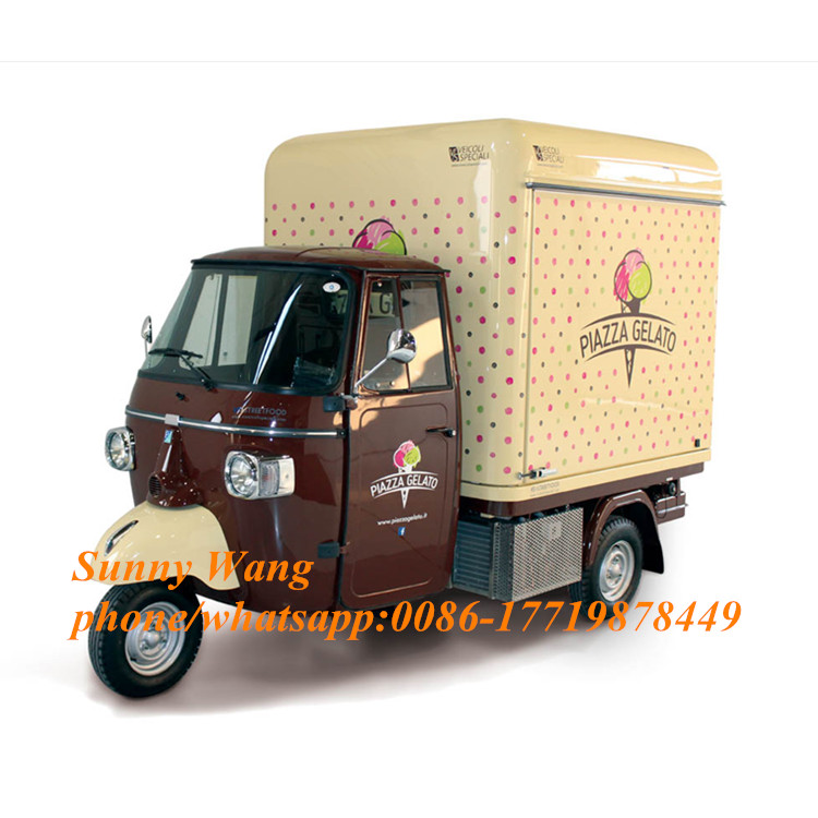3M Length Mobile Food Carts/trailer/ Ice Cream Truck For Motorcycle Model