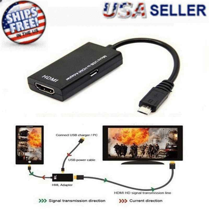 Micro USB к HDMI Кабель-адаптер HDTV HDMI конвертер 1080P HD аудио кабели для Samsung huawei Android телефон планшет