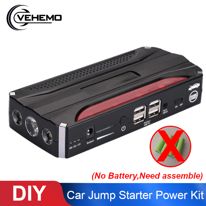 Charger Power-Supply-Battery-Charger Power-Kit Jump-Starter Led-Light Usb-Sos-Booster