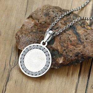 Image 2 - 4 Qul ожерелье Мусульманский Исламский хадж Умра серебряный цвет CZ камень кулон мужские ювелирные изделия