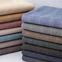 Woolen Fabric Winter Coat Jacket Suit Fabric Winter Trend Thick Herringbone Clothing Fabric DIY Cashmere Overcoat