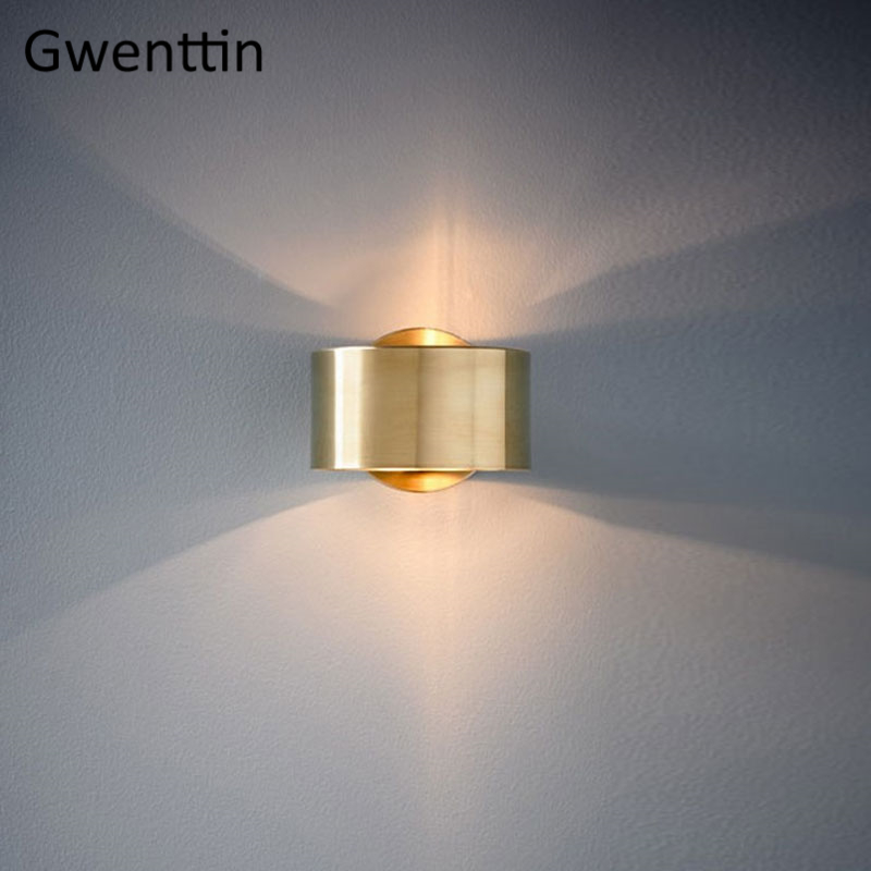 Image 2 - Modern Luxury Gold Wall Lamp Led Wall Sconce Light Fixtures Mirror Lights for Home Art Deco Loft Industrial Lamp Stair Luminaire-in LED Indoor Wall Lamps from Lights & Lighting