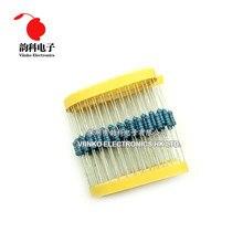 50pcs 1/2W 1R ~ 4.7M Metal film resistor 100R 220R 330R 1K 1.5K 2.2K 3.3K 4.7K 47 22 10K K K 100K 100 220 330 1K5 2K2 3K3 2.2M ohm