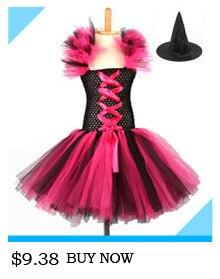 H99c21429642e4d5489c419899c5c43c1t Kids Maleficent Evil Queen Girls Halloween Fancy Tutu Dress Costume Children Christening Dress Up Black Gown Villain Clothes