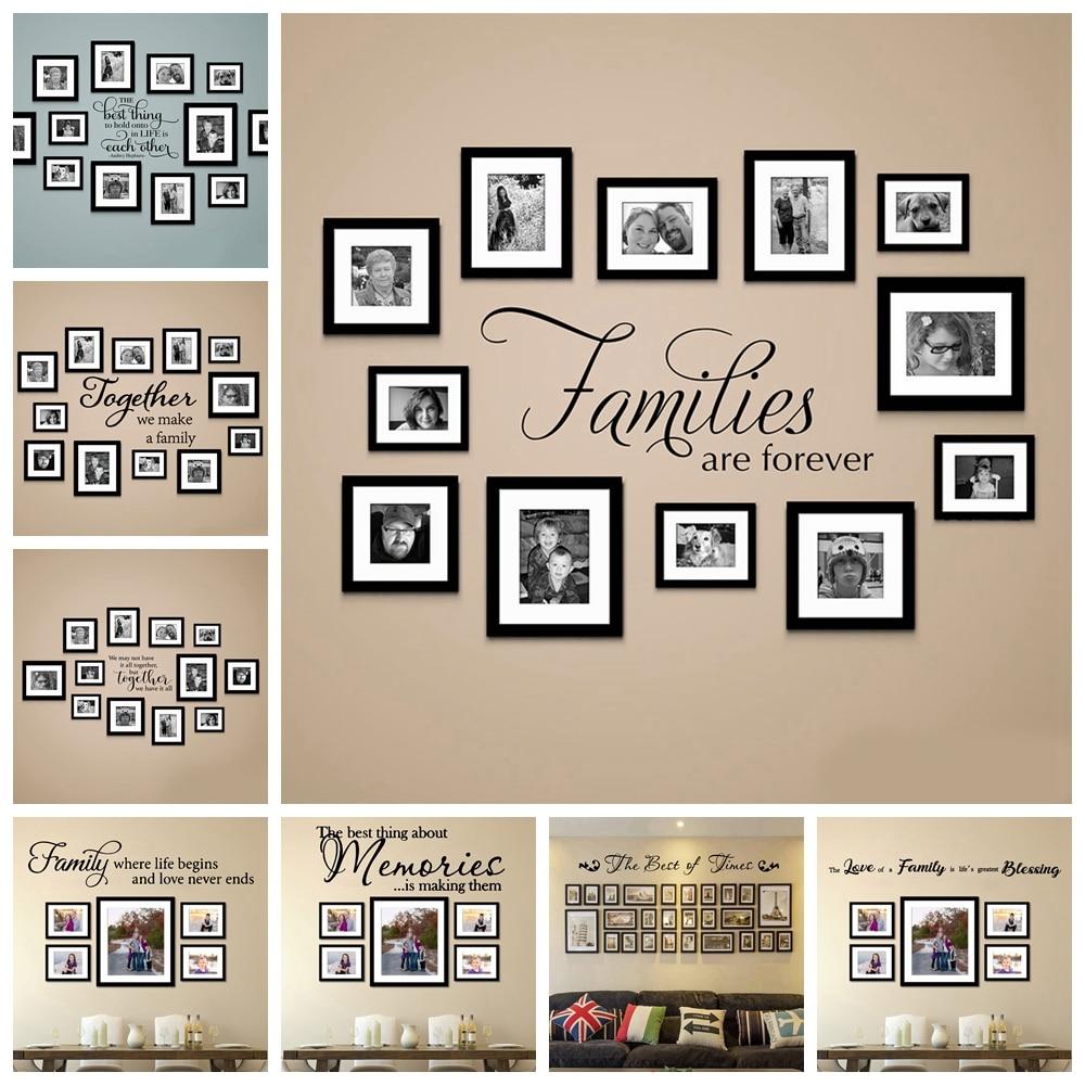 Предложение галерея наклейка вместе Цитата стикер на стену обои для гостиной фото настенные украшения наклейки настенные наклейки с роспи...