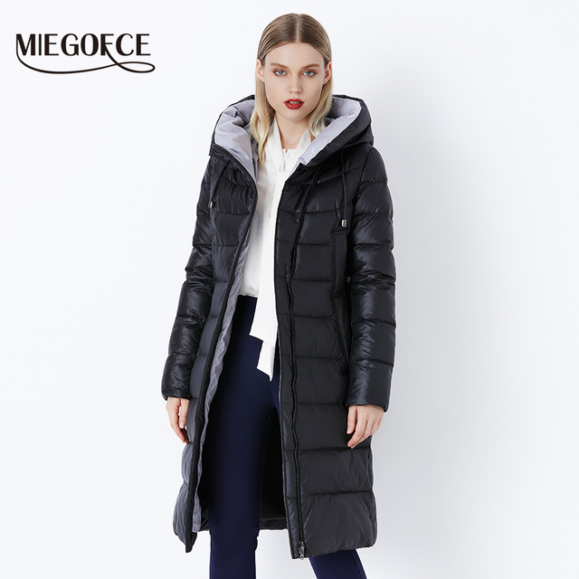 MIEGOFCE 2019 Coat Jacket Winter Women's Hooded Warm Parkas Bio Fluff Parka Coat Hight Quality Female New Winter Collection Hot 1