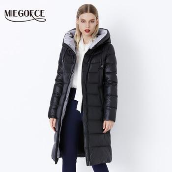 MIEGOFCE 2019 abrigo chaqueta de invierno de mujer con capucha Parkas calientes Bio Fluff Parka abrigo de alta calidad femenina nueva colección de invierno caliente