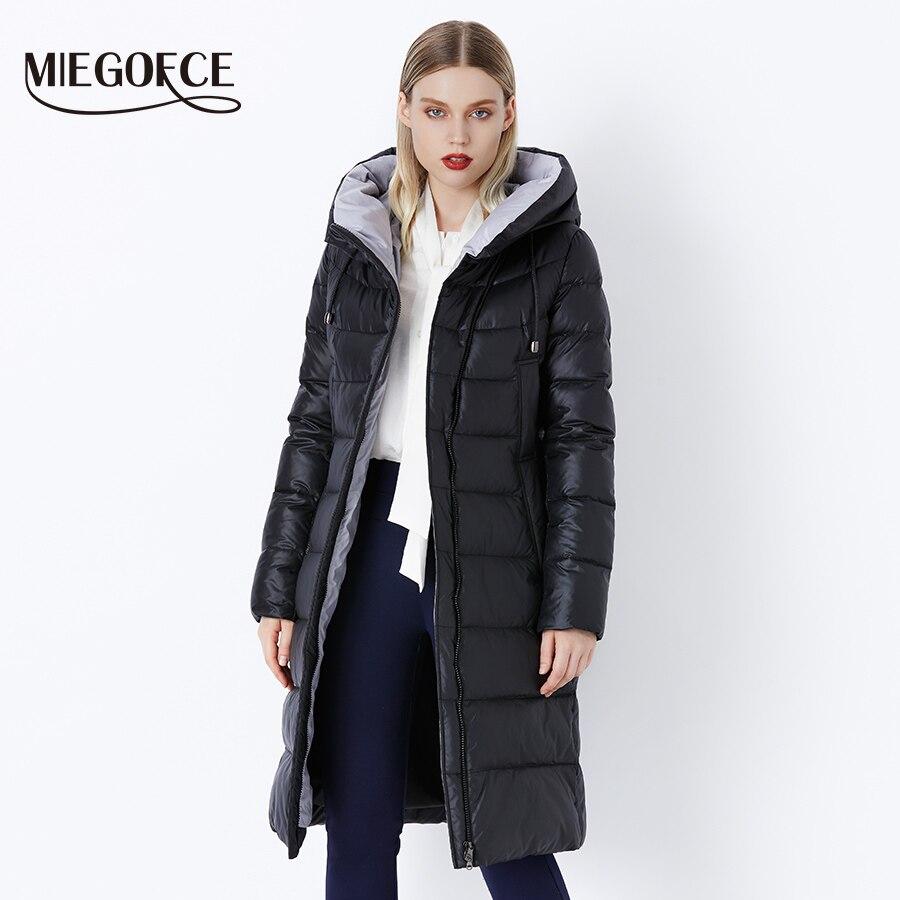 MIEGOFCE 2019 manteau veste hiver femmes à capuche chaud Parkas Bio peluche Parka manteau haute qualité femme nouvelle Collection d'hiver chaude