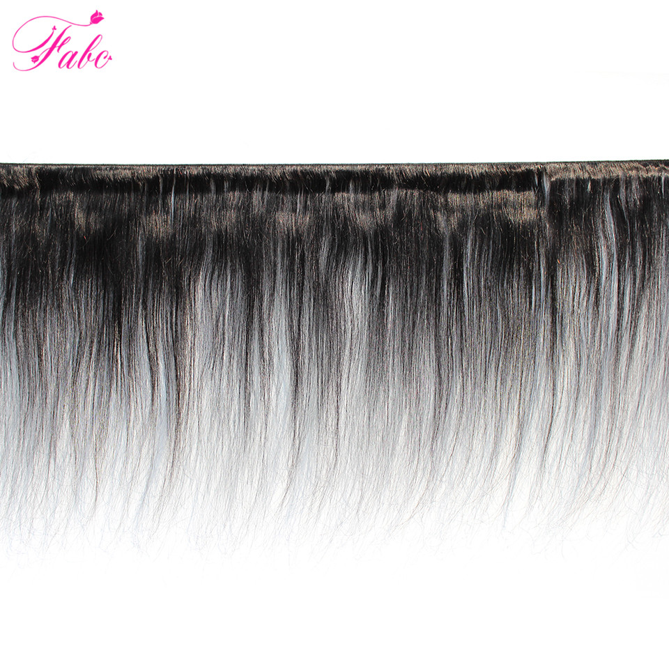 Image 2 - Fabc Hair Peruvian Straight Hair Bundles With Lace Closure Middle Part 3 Bundles With Closure Natural Black Human Hair Non remy-in 3/4 Bundles with Closure from Hair Extensions & Wigs