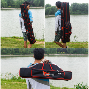 Image 5 - Outdoor 2/3 Layer Fishing Bags 80cm 90cm 120cm Waterproof Fishing Tackle Bag Fishing Rod Bag XA106G