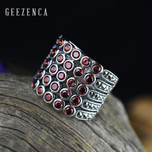 925 Sterling Thai Silver Gemstone Natural Crystal Handmade Mosaic Craft Ring for Women Fine Jewelry Luxury Trendy Cocktail Ring