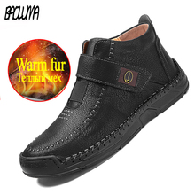 Winter Boots Outdoor Men's Fashion Warm Plush Ankle Cold-Protection Handmade