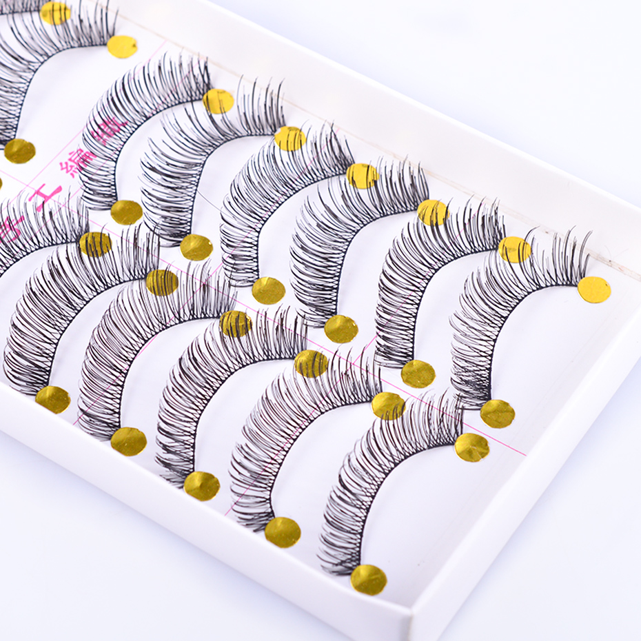10 Pair False Eyelashes Natural Soft Long Thick 3D Mink Eye Lashes Wispy Handmade Makeup Beauty Extension Tools TR504