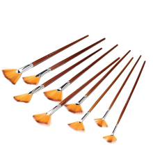 9pcs Painting Brushes For Watercolor Oil/Acrylic / Body/ Nail/ Face Paint Painting Artist Fan Brushes Set Nylon Hair Paint Brush high strength 13pcs luxury nylon hair oil painting brush set watercolor landscape fish tail fan type outline paint writing brush