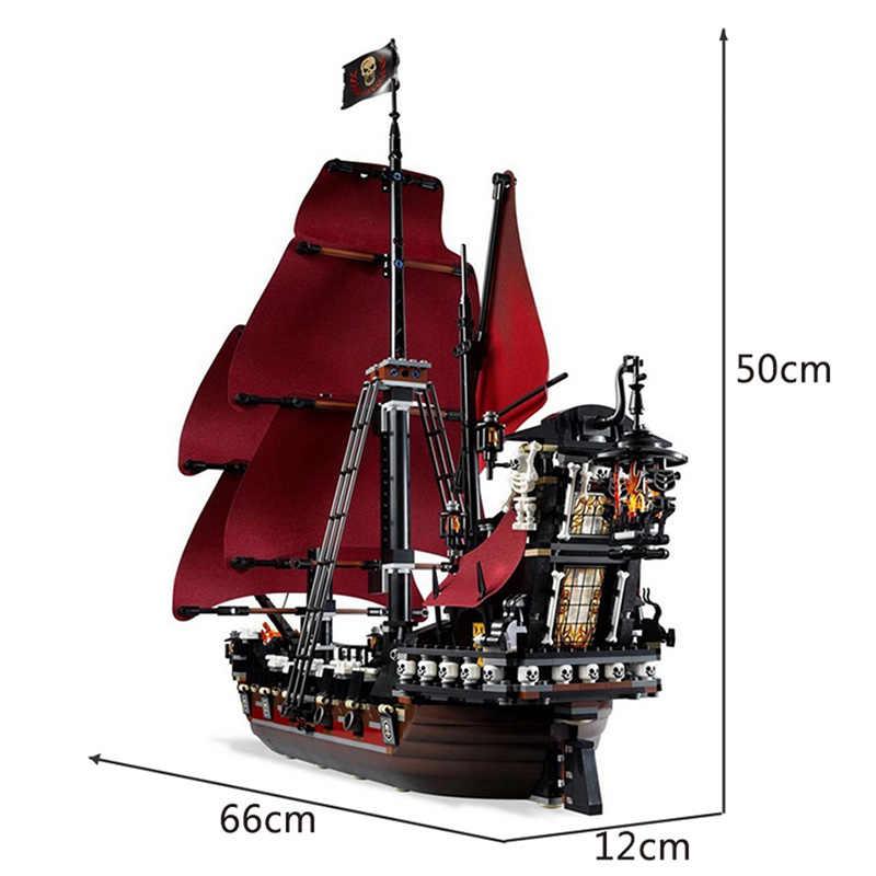 سفينة اللؤلؤ الأسود متوافقة مع سفن القراصنة 4184 4195 نموذج الكاريبي اللبنات الأولاد هدايا عيد الاطفال اللعب