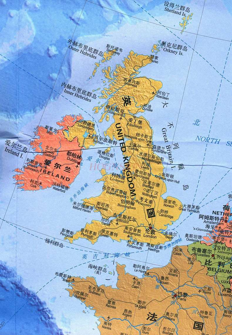 Europe Map Chinese And English Map World Hot Countries Map Europe Europe Travel Map