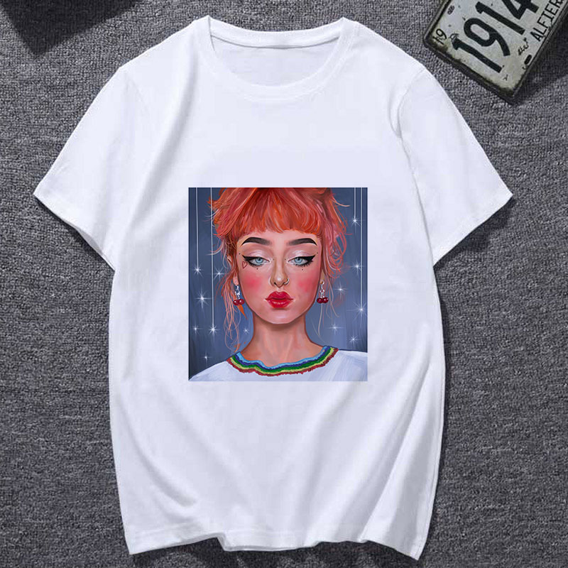 Emo Style Aesthetic T Shirt Printed Tops Summer Women Gothic Tshirt Harajuku Clothes Graphic Tees Female(China)