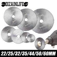 Mini lâmina de serra circular hss para dremel disco de corte de madeira com mandril serra de corte de metal para a roda giratória de plástico de alumínio