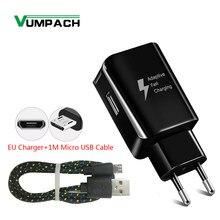 Vumpach chargeur adaptateur mural USB de charge rapide pour Samsung HTC LG huawei Mate 8 7 pour l'honneur xiaomi câble de chargeur de téléphone Android