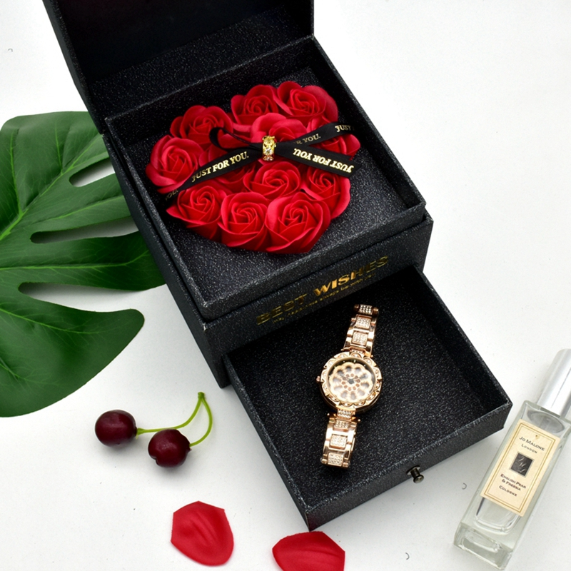 Top Quality Women 360 Degree Rotation Watches Luxury Diamond Starry Sky Ladies Watch Fashion Quartz Wristwatch ChristmasGift box
