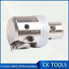 Ücretsiz teslimat alibaba ayarlanabilir 0.01 kaplama EW CBH32 60 sıkıcı kafa 0.01mm sınıf artırmak CNC LBK3 CNC freze sondaj işleme