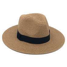 Cap Straw-Fedora Sunhat Women Panama-Hat Sun-Visor Jazz Sombrero Cool Vintage Summer Beach