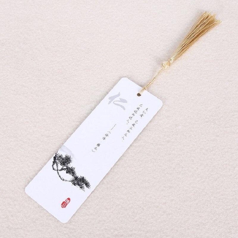Bookmark Paper Capacitor Present Creative Tassel Chinese Retro Style Reminiscence  Label